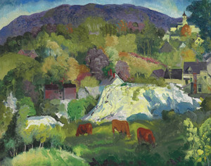 Art Prints of Village on a Hill by George Bellows