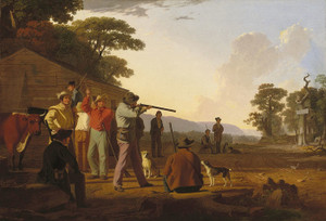 Art Prints of Shooting for the Beef by George Caleb Bingham