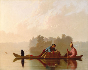 Art Prints of Fur Traders Descending the Missouri by George Caleb Bingham