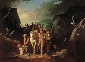 Art Prints of Daniel Boone Escorting Settlers, Cumberland Gap by George Caleb Bingham