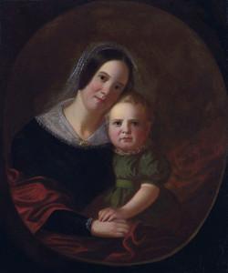 Art Prints of Sarah Elizabeth Hutchison and Son Newton by George Caleb Bingham