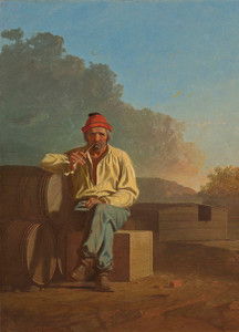 Art Prints of Mississippi Boatman by George Caleb Bingham
