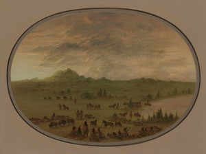 Art Prints of Bivouac of a Sioux Party at Sunrise by George Catlin