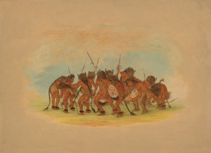 Art Prints of Buffalo Dance Mandan by George Catlin