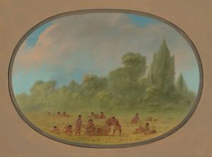 Art Prints of Caddoe Indians Gathering Wild Strawberries by George Catlin