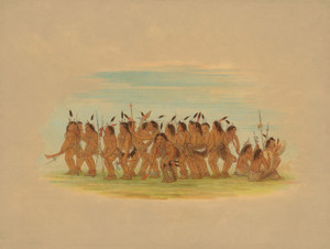 Art Prints of Dog Dance Sioux by George Catlin