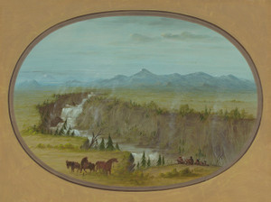 Art Prints of Falls of the Snake River by George Catlin