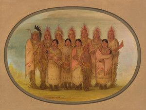 Art Prints of Iowa Indians Who Visited London and Paris by George Catlin