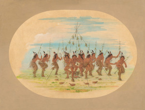 Art Prints of Green Corn Dance Minatarrees by George Catlin