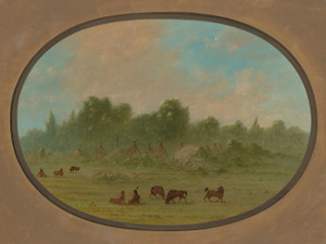 Art Prints of Tawahquena Village by George Catlin