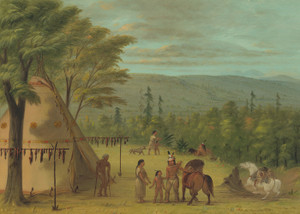 Art Prints of The Cheyenne Brothers Starting on Their Fall Hunt by George Catlin