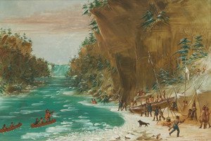 Art Prints of The Expedition Encamped Below the Falls of Niagara by George Catlin
