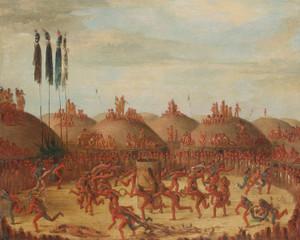 Art Prints of The Last Race, Mandan-o-kee-pa Ceremony by George Catlin