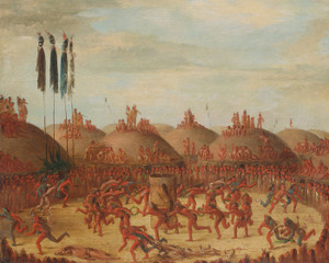 Art Prints of The Last Race, Mandan-o-kee-pa Ceremony by George Catlin