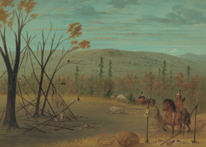 Art Prints of The Cheyenne Brothers Returning from Their Fall Hunt by George Catlin