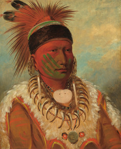 Art Prints of The White Cloud Head of the Iowas by George Catlin