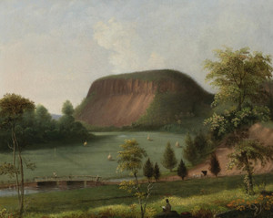 Art Prints of East Rock, New Haven, Connecticut by George Henry Durrie