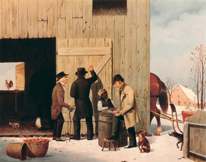 Art Prints of Settling a Bill by George Henry Durrie