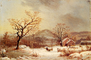 Art Prints of A Sleigh in the Snow by George Henry Durrie