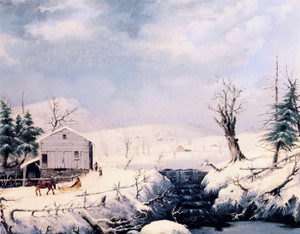 Art Prints of Winter in New England by George Henry Durrie