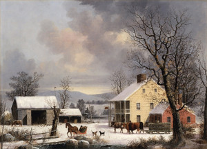 Art Prints of Winter in the Country by George Henry Durrie