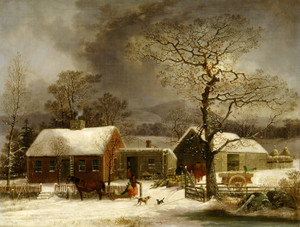 Art Prints of Winter Scene in New Haven Connecticut by George Henry Durrie