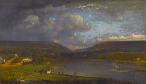 Art Prints of On the Delaware River by George Inness