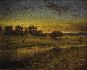 Art Prints of Pasture at Dawn by George Inness