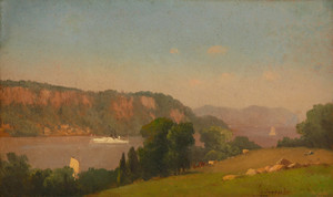 Art Prints of View on the Hudson by George Inness