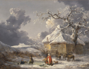 Art Prints of Winter Landscape with Figures by George Morland