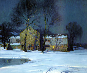 Art Prints of Moonlight Over Holicong Studio by George Sotter
