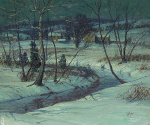 Art Prints of Nocturnal Winter Landscape by George Sotter