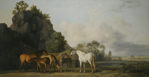 Art Prints of Brood Mares and Foals by George Stubbs
