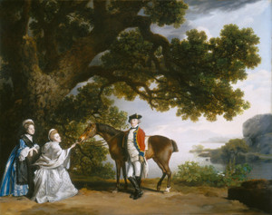 Art Prints of Captain Samuel Sharpe Pocklington with Wife Pleasance by George Stubbs