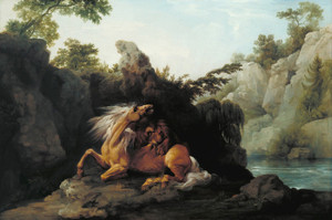 Art Prints of Horse Devoured by a Lion by George Stubbs