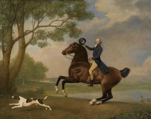 Art Prints of Portrait of Baron de Robeck Riding a Bay Hunter by George Stubbs