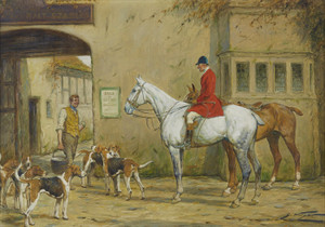 Art Prints of At the Stable by George Wright