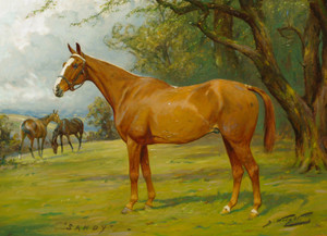Art Prints of Portrait of the Chestnut Hunter Sandy by George Wright