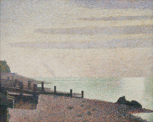 Art Prints of Evening, Honfleur by Georges Seurat