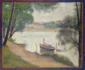 Art Prints of Gray Weather, Grande Jatte by Georges Seurat