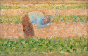 Art Prints of Man with a Hoe by Georges Seurat