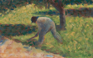 Art Prints of Peasant with a Hoe, 1882 by Georges Seurat