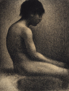 Art Prints of Seated Nude Study for Une Baignade by Georges Seurat
