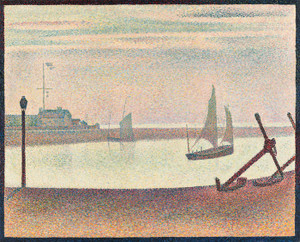 Art Prints of The Channel at Gravelines, Evening by Georges Seurat