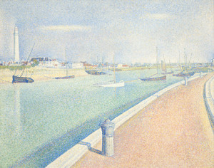 Art Prints of The Channel of Gravelines, Petit Fort Philippe by Georges Seurat