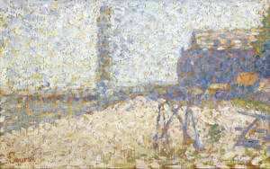 Art Prints of The Hospice and Lighthouse, Honfleur by Georges Seurat