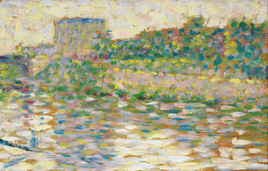 Art Prints of The Seine at Courbevoie by Georges Seurat