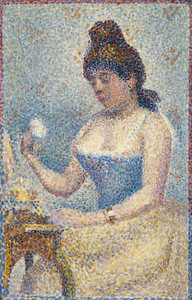 Art Prints of Young Woman Powdering Herself by Georges Seurat