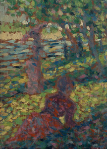 Art Prints of Woman in a Park by Georges Seurat