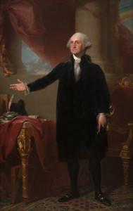 Art Prints of George Washington Lansdowne Portrait by Gilbert Stuart